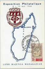 62873 -  MADAGASCAR - POSTAL HISTORY: MAXIMUM CARD 1966 - MAPS Animals CROCODILE