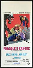 l'affiche du film FRAISES ET LE SANG davison, darby, coco, HAGMANN