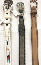 NWT NOCONA Western Fashion Leather Belt Lot Size 28