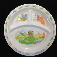 Kermit The Frog and Friends Melamine Plate Jim Henson Divided Children's Plate