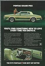 1979 Pontiac GRAND PRIX advertisement page PONTIAC Grand Prix ad interior photo