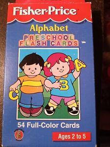 Fisher Price Vintage alphabet flash cards 54 fullcolor cards for children 2 to 6