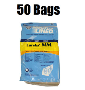 50 Micro Lined Vacuum Bags for Eureka Mighty Mite 3670 3680 Vacuums