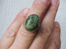 schöner, alter Ring__925 Silber__mit schönem, grünmarmoriertem Stein_!