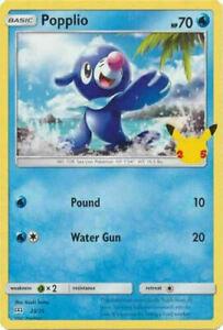 Popplio 23/25 Non Holo McDonalds 25th Anniversary Promo Pokemon Card - MINT