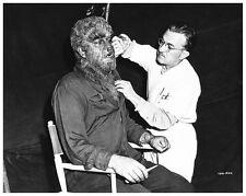 LON CHANEY & JACK PIERCE make up still as WOLF MAN - (L740)