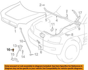 TOYOTA OEM Hood-Safety Catch Bolt 9008011732