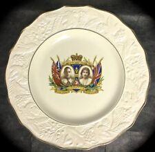 KING GEORGE VI & QUEEN ELIZABETH 1937 CORONATION PLATE ~ SOHO POTTERY ENGLAND