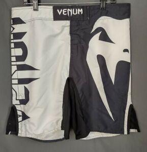 Venum Muay Thai Boardshorts Black And White Men XL