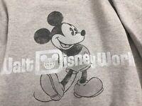 Mickey Mouse Walt Disney World Gray Heather Sweatshirt By Hanes Adult Small