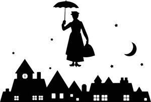 Cherry Tree Lane Mary Poppins  Laptop Sticker/ Mickey Disney vinyl decal