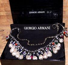 NEW $950.00 GIORGIO ARMANI LE COLLEZIONI NECKLACE MADE IN ITALY
