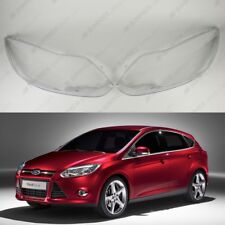 Ford Focus MK3 OEM Headlight Glass Headlamp Lens Plastic Cover (PAIR)
