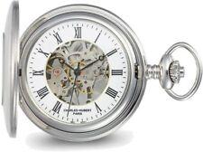 Charles Hubert Stainless Hunter Case w/ Shield Skeleton Pocket Watch XWA6116