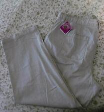 NWT~JMS Cotton Summer Drawstring Cargo Pants~Putty Sidewalk Color~Plus 2X