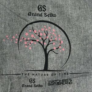 Grand Seiko Cloth Promotional Tote Bag The Nature of Time Tree Pink Leaves