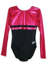 Gk Elite Sangria Mystique/Black Gymnastics Leotard - As Adult Small 4006