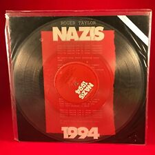 "ROGER TAYLOR Nazis 1994 Original  UK 12"" CLEAR Vinyl Single EXCELLENT CONDITION"