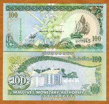 Maldives, 100 Rufiyaa, 1995, P-22 (22a), Scarce Date, UNC
