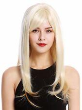 Perruque pour Femme Long Lisse Frange Blond Clair Doré Mélange GFW2274