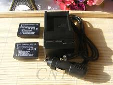 2xDMW-BCG10E DMW-BCG10PP Battery+Charger for Panasonic Lumix DMC-ZS19 ZS8 DE-A65