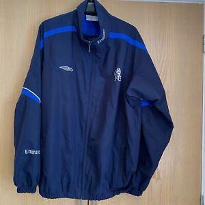 Mens Size XL Umbro Chelsea FC Jacket Coat Top Emirates Blue Football Full Zip