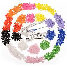 KAM Snap Pliers Starter Set 150x T5 & 150x T3 Snap Buttons 10 Classic Colors