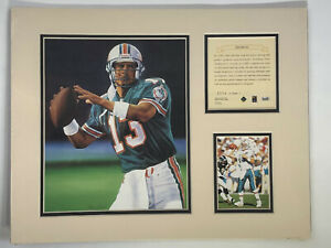 1995 Dan Marino Miami Dolphins Matted Kelly Russell Lithograph Art Print #314