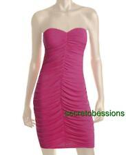 Sz M Victoria Secret Pink Ruched Strapless Matte Jersey Clubwear Dress NEW $79