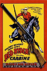 Metal Tin Sign red ryder carbine Pub Home Vintage Retro Poster Cafe ART