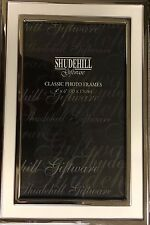 "SHUDEHILL WHITE & SILVER MODERN 6X4"" CLASSIC PHOTO FRAME - 11046"