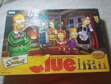 The Simpsons Edition Clue Board Game w/ Collectible Miniatures see notes