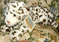 "ANIMAL ALLEY Toys R Us white brown SNOW LEOPARD Plush Stuffed Animal 17"" New Tag"