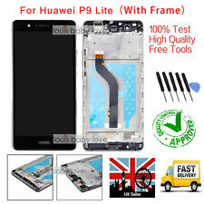 For Huawei P9 Lite Full LCD Display Touch Screen Digitizer Assembly+Frame Black