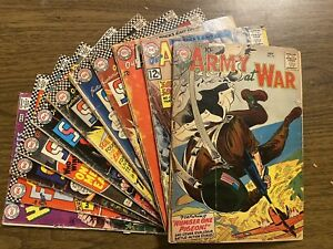 Our Army At War lot of 11 Silver Age