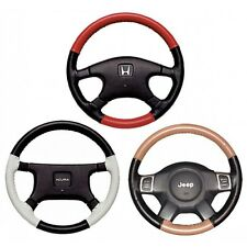 Custom Fit 1 - 2 Color Leather Steering Wheel Cover Wheelskins EuroTone 15X4 1/8