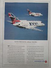 1992-1993 PUB CORPORATE JETS BRITISH AEROSPACE AVION BAe 800 1000 AIRCRAFT AD