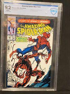 🔥Amazing Spider-Man #361 First Carnage CBCS 9.2 WP Venom HOT  CHEAPEST ON  EBAY