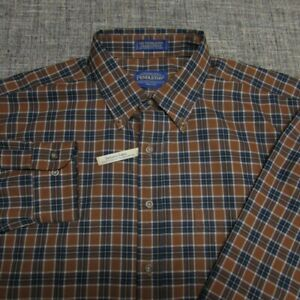 SIR PENDLETON WORSTED WOOL LONG SLEEVE BUTTON UP SHIRT--XL--UNWORN!-NEW!TAGS!