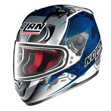 Nolan Casque integral N64 Gemini replica C.checa Flat White M