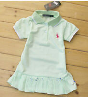 summer lovely Kids' Girls tennis skirt Short-sleeved T-shirt dress 9 Color 6M-5Y