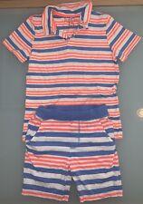 Joules Boy's T-Shirt & Shorts, Blue/Orange/White, Age 7-8 (128cms)