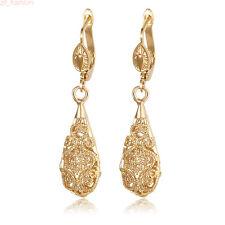 Women Hollow Drop Gold Filled Vintage Flower Wedding Jewelry Dangle Earrings