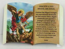 Orasion A San Miguel Arcangel Con Soporte Para Mesa o Colgar New 6x4 Pulgadas