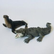 More details for schleich animals bundle zoo crocodile sea lion toy model collectable figures