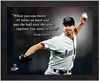"Randy Johnson Arizona Diamondbacks MLB Pro Quotes Photo (Size: 9"" x 11"") Framed"