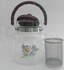 New 800ml Tea Coffee Pot Heat Resistan Glass Teapot Cooking Pot Direct Heating