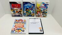 5 WII Game Lot- Disney Universe, Hello Kitty, Cooking Mama, & Pirates, Alvin &