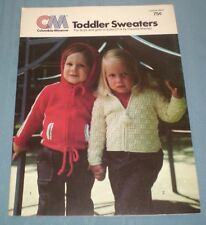 6 Toddler Sweaters / Jackets 3 to Knit & 3 to Crochet Boy Girl size 1T 2T 3T 4T