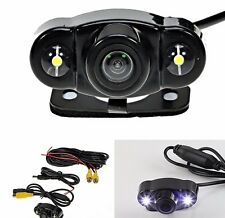 Car SUV Rearview Reverse Backup Parking 170º Wide-angle HD Camera 2 LED Light